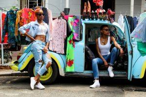 An exploration of the theme 'Thrift' through Fashion photography. Braamfontein RSA